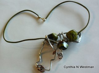 Organic Freeform Pendant by Cynthia Westman  - featured on Jewelry Making Journal