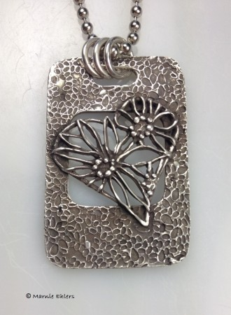 Hope and Heart metal clay pendant by Marnie Ehlers  - featured on Jewelry Making Journal