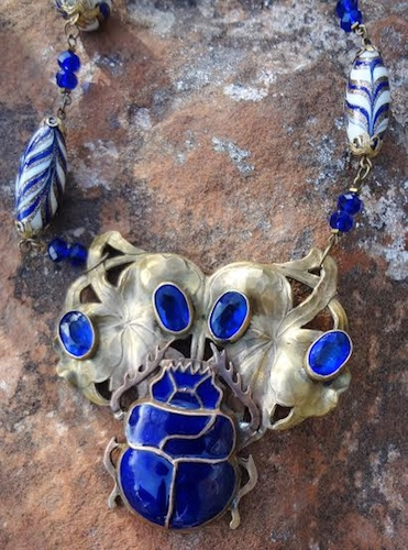 Antique Scarab Necklace