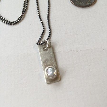 Pearl pendant by Janine Gerade  - featured on Jewelry Making Journal