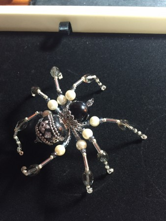 Creepy but Fun Spider by Colleen  - featured on Jewelry Making Journal