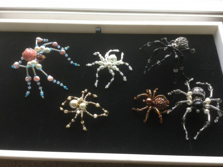 The Family Has Grown!  Creepy but Fun Spiders by Colleen  - featured on Jewelry Making Journal