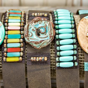 Turquoise Bohemian Leather Bracelets