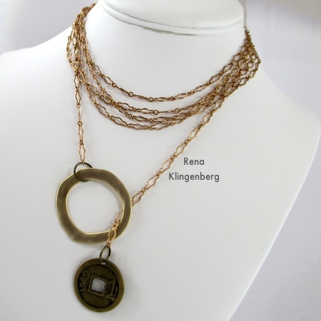 How to wear a multi-wrap lariat necklace - Fun with Lariat Necklaces - Tutorial by Rena Klingenberg