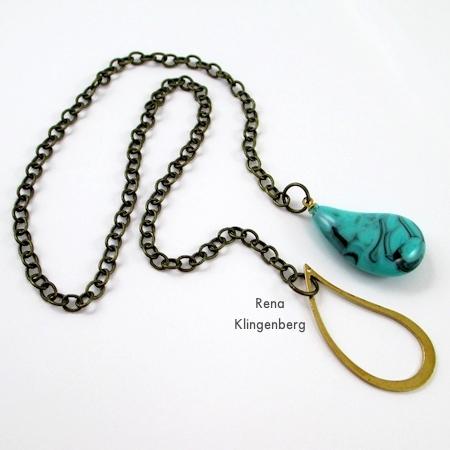 Fun with Lariat Necklaces - Tutorial por Rena Klingenberg
