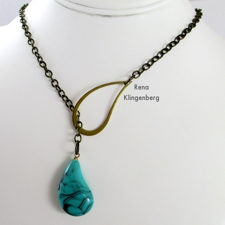 How to wear a lariat necklace - Fun with Lariat Necklaces - Tutorial by Rena Klingenberg
