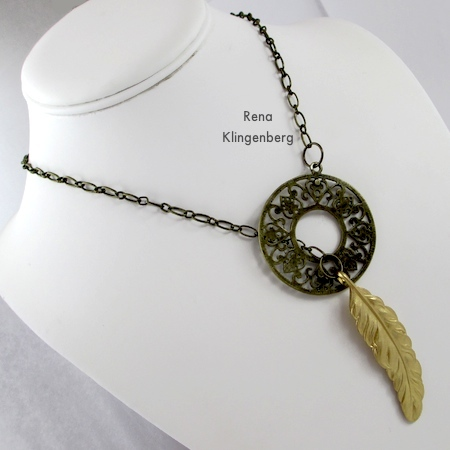 How to put on a lariat necklace - Fun with Lariat Necklaces - Tutorial by Rena Klingenberg