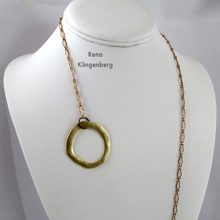 How to put on the lariat necklace - Fun with Lariat Necklaces - Tutorial by Rena Klingenberg