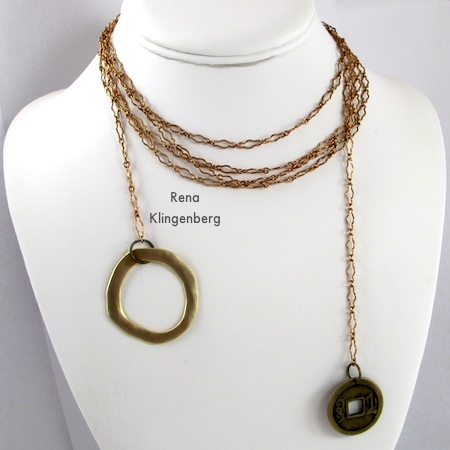 Multi-wrap lariat necklace for Fun with Lariat Necklaces - Tutorial by Rena Klingenberg