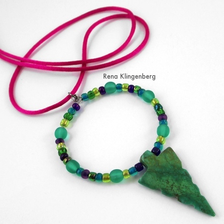 Memory Wire Pendant and Earrings - Tutorial by Rena Klingenberg