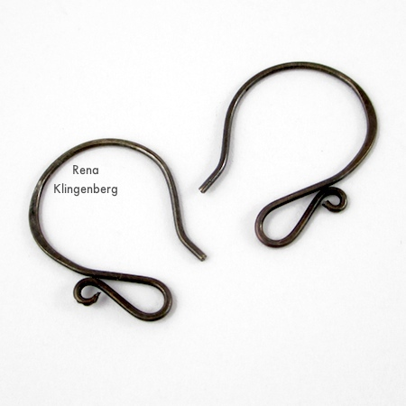 Easy Fancy Earwires for Memory Wire Pendant and Earrings - Tutorial by Rena Klingenberg