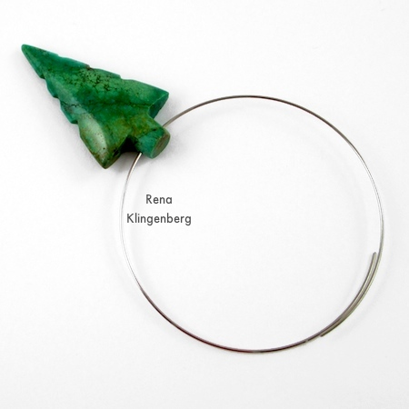 Assembling the pendant for Memory Wire Pendant and Earrings - Tutorial by Rena Klingenberg