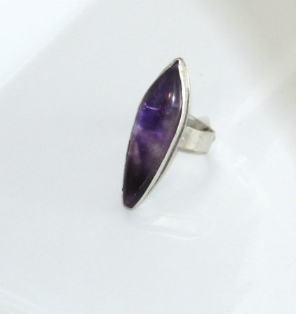 Amethyst Cabochon Ring by Dianne Culbertson-Jacques  - featured on Jewelry Making Journal