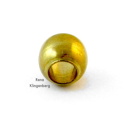 """""""Esfera do tubo"""" para o fechamento ajustável na pulseira de cordão ajustável - Tutorial de Rena Klingenberg"""