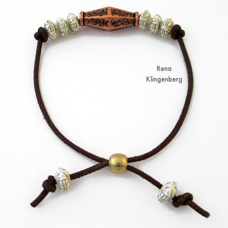 Pulseira de cordão ajustável - Tutorial de Rena Klingenberg