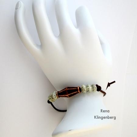 Adjustable Cord Bracelet - Tutorial by Rena Klingenberg