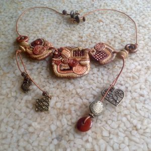 Boho Polymer Necklace