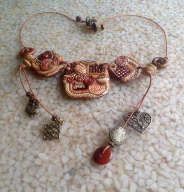 Boho Polymer Necklace