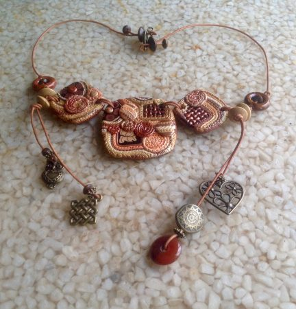 Boho Polymer Necklace by Patti Underwood  - featured on Jewelry Making Journal