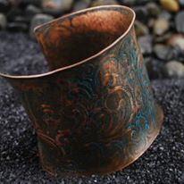 Copper Jewelry with Various Techniques