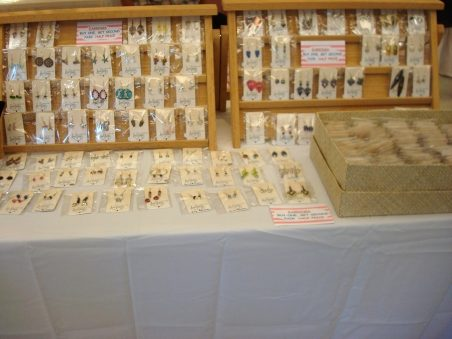 Wooden Earring Displays by Kathy Zee  - featured on Jewelry Making Journal