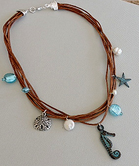 """Down by the Ocean"" Necklace, by Rosemary Zamecnik  - featured on Jewelry Making Journal"