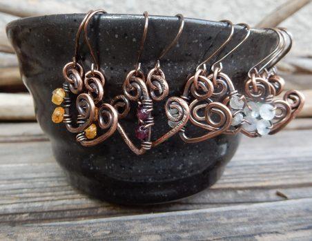 Sweetheart Earrings by Erinn LaMattery  - featured on Jewelry Making Journal