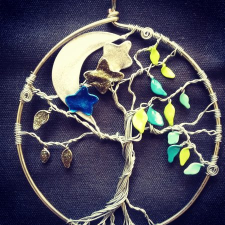 """Tree of Life Pendant, """"Night and Day"""" by Louise Roberts  - featured on Jewelry Making Journal"""