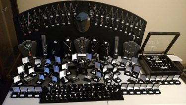 Jewelry Display with Backdrop and Risers