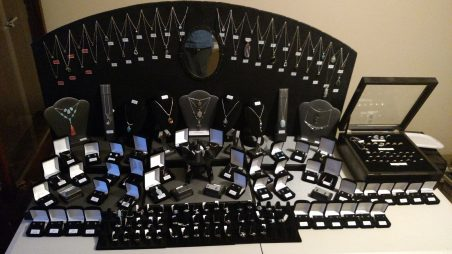 Jewelry Display with Backdrop and Risers, by Duane  - featured on Jewelry Making Journal