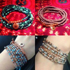 Seed Bead Wrap Bracelets