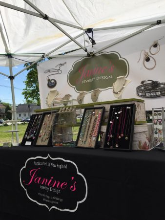 Janine's Outdoor Jewelry Booth  - featured on Jewelry Making Journal