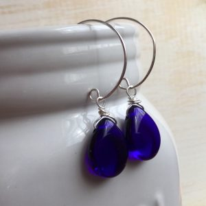 Irresistible Cobalt Blue Earrings