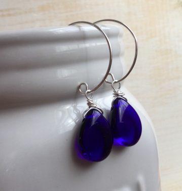 Irresistible Cobalt Blue Earrings