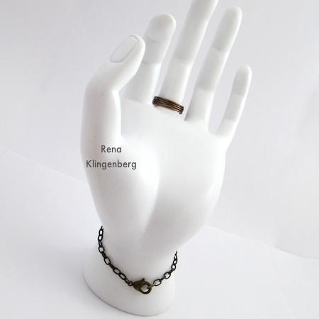 Underside of Triple Chain Slave Bracelet - Tutorial by Rena Klingenberg