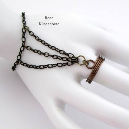 Triple Chain Slave Bracelet - Tutorial by Rena Klingenberg