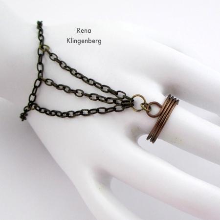 Triple Chain Slave Bracelet - Tutorial by Rena Klingenberg