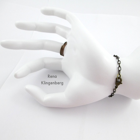 How to Put on a Slave Bracelet - Triple Chain Slave Bracelet - Tutorial by Rena Klingenberg