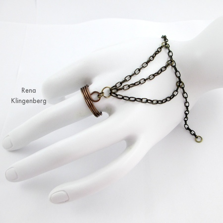 How to Put on a Slave Bracelet - Triple Chain Slave Bracelet - Tutorial by Rena Klingenberg