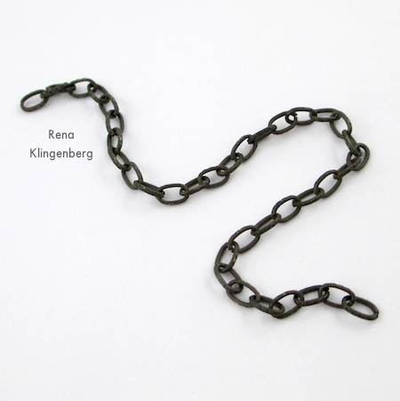 Chain for bracelet of Triple Chain Slave Bracelet - Tutorial by Rena Klingenberg