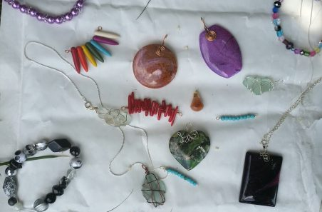 Necklaces and pendants by Andrea  - featured on Jewelry Making Journal