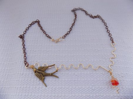 Bird on a Wire by Karen Taylor  - featured on Jewelry Making Journal