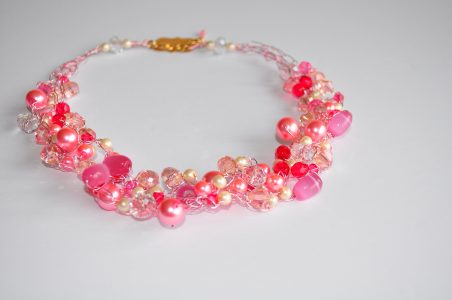 Pink Wire Crochet, by Linda Maria Santiago  - featured on Jewelry Making Journal