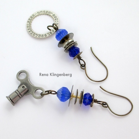 Elegant Steampunk Earrings - Tutorial by Rena Klingenberg