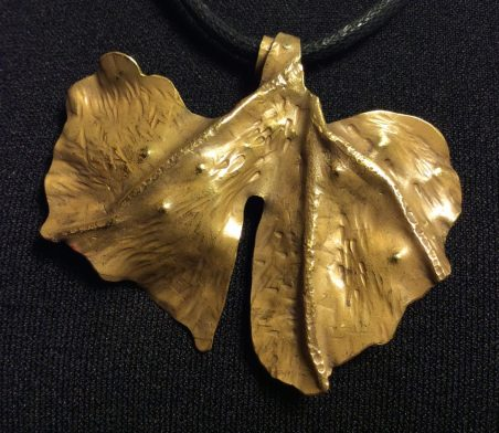 The Ginko Leaf I Use as my Logo, by Pamela Dudrow  - featured on Jewelry Making Journal