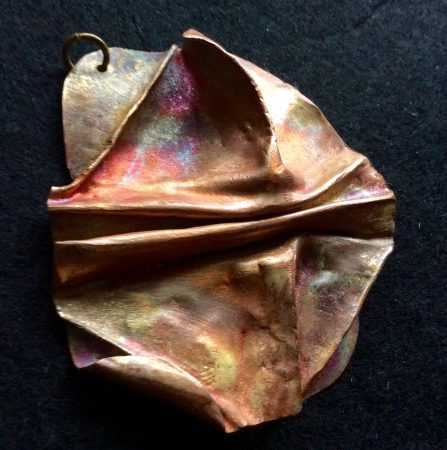 Three-Dimensional Brass Pendant by Pamela Dudrow  - featured on Jewelry Making Journal