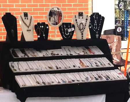Jewelry Booth with Risers by Barbara Rosol  - featured on Jewelry Making Journal