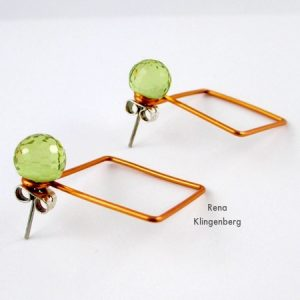 Square Hoop Earring Jackets (Tutorial)
