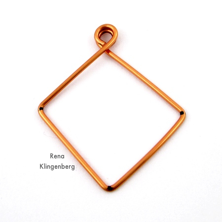 Finished Square Hoop Earring Jackets - Tutorial by Rena Klingenberg