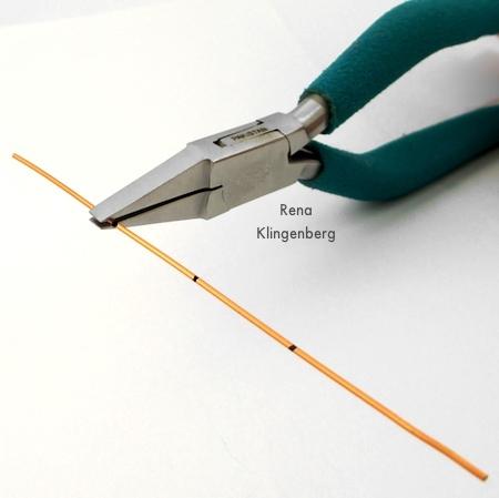 Bending wire for Square Hoop Earring Jackets - Tutorial by Rena Klingenberg